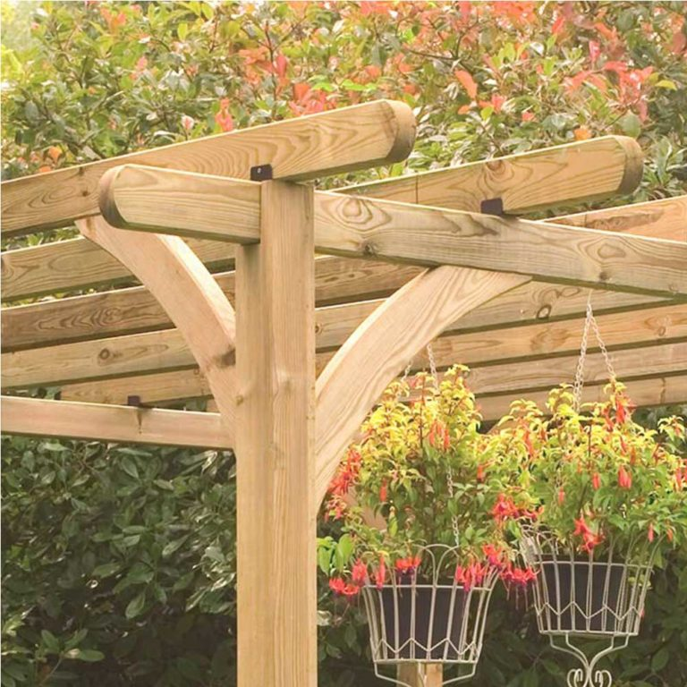 Rutland Country Wooden Garden Pergola Kit Dimension