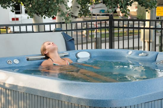 hot tub in recreational vehicle campground